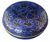 Royal Blue Cloisonne Jewel Dish
