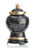 Royal Blue Miniature Cloisonne Cremation Urn