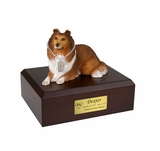 Sable Collie Dog Figurine Pet Cremation Urn - 1557