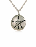 Sand Dollar Sterling Silver Cremation Jewelry Pendant Necklace