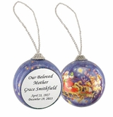 Santa and Sleigh Memorial Holiday Tree Ornament