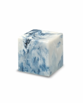 Sapphire Small Cube Cremation Urn - Engravable