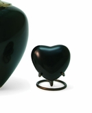 Satori Onyx Heart Brass Keepsake Cremation Urn