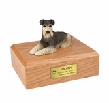 Schnauzer Dog Figurine Pet Cremation Urn - 197