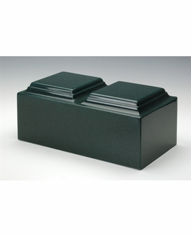 Sea Holly Green Companion Cremation Urn Vault - Engravable