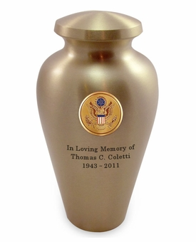 Seal of America Emblem Bronze Arlington Cremation Urn - Engravable