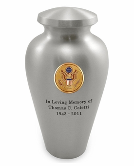 Seal of America Emblem Pewter Arlington Cremation Urn - Engravable