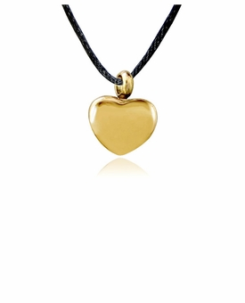 Semplice Gold Finish Stainless Steel Cremation Jewelry Pendant Necklace