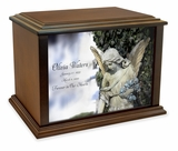 Serene Angel Eternal Reflections Wood Cremation Urn - 4 Sizes