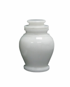 Serenity Antique White Keepsake Cremation Urn