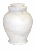 Serenity Antique White Marble Cremation Urn