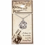 Serenity Prayer Rose Magnifier Jewelry Pendant Necklace