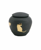 Shale Silhouette Cat Cremation Urn