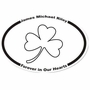 Shamrock Memorial Sticker