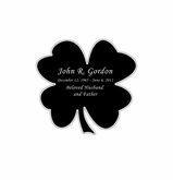 Shamrock Nameplate - Engraved Black and Silver - 1-7/8  x  1-7/8