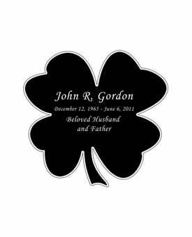 Shamrock Nameplate - Engraved Black and Silver - 2-3/4  x  2-3/4