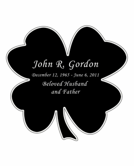 Shamrock Nameplate - Engraved Black and Silver - 3-1/2  x  3-1/2