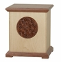 Sheffield Dimensional Bubinga and Maple Wood Cremation Urn