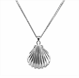 Shell Sterling Silver Cremation Jewelry Necklace