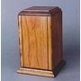 Sherwood I Vertical Cherry with Accent Grooves Cremation Urn