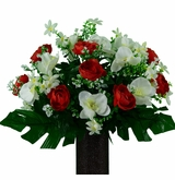 Silk Flowers for Cemeteries, Gravesites, Mausoleums, and Niches