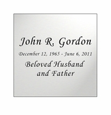 Silver Engraved Nameplate - Square - 2-3/4  x  2-3/4