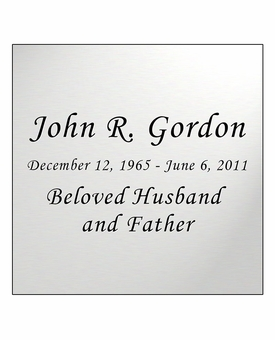 Silver Engraved Nameplate - Square - 3-1/2  x  3-1/2