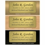 Black and Tan Engraved Nameplate - Square with Rounded Corners - 2-3/4  x  2-3/4