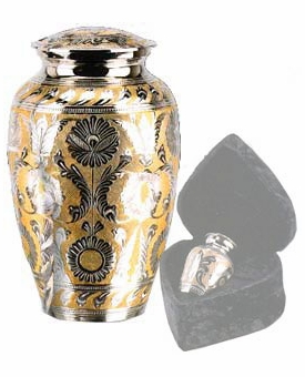 Silver-Gold Classic Cremation Urn