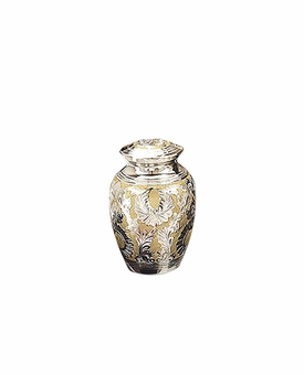 Silver-Gold Classic Cremation Urn - Small