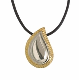 Silver Gold Tear Drop Memorial Keepsake Cremation Pendant Jewelry