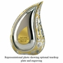 Silver Gold Teardrop Cremation Urn