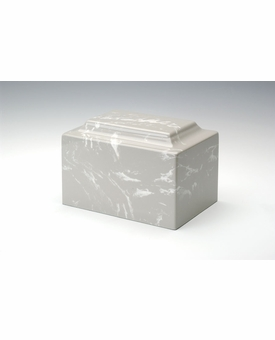 Silver Gray Classic Cultured Marble Cremation Urn Vault - Engravable
