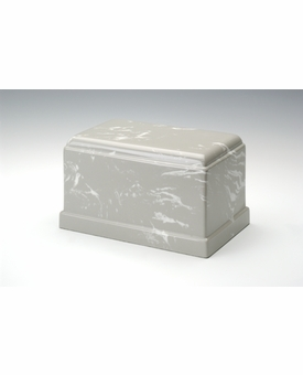 Silver Gray Olympus Cremation Urn - Engravable