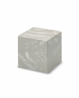 Silver Gray Small Cube Cremation Urn - Engravable