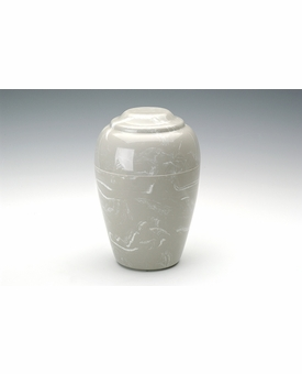 Silver Gray Small Grecian Cremation Urn - Engravable