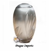 Silver Lead Crystal Bloom Large Cremation Urn