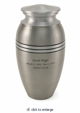 Silver Legacy Metallics Adult Cremation Urn