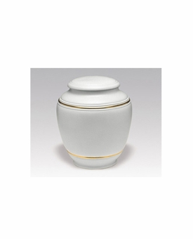 Simple White Classica Porcelain Keepsake Cremation Urn