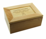 Simplicity Maple Wood Keepsake Box