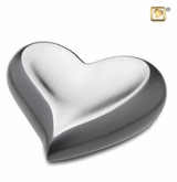 Slate Pewter Heart Keepsake Cremation Urn