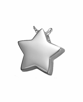 Slide Star Cremation Jewelry in Sterling Silver