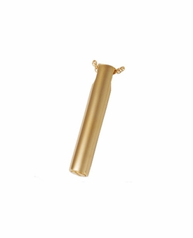 Slim Slide Cylinder Cremation Jewelry in 14k Gold Plated Sterling Silver