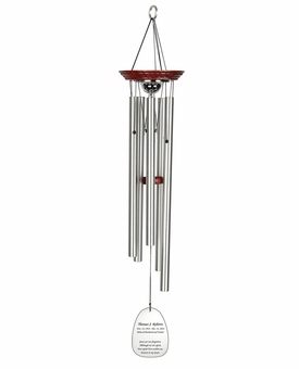 Memorial Wind Chime Cremation Urn with Engraving