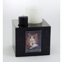 Small Black Marble Candle Pet Cremation Urn