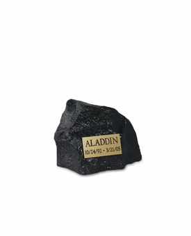 Small Black Rock Pet Cremation Urn