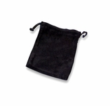 Small Black Velvet Cremains Bag For Ashes