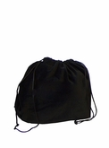Small Black Velvet Cremation Urn Bag