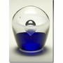 Small Blue Enduring Fountain Cremains Encased in Glass Keepsake Cremation Urn