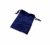 Small Blue Velvet Cremains Bag For Ashes
